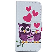 Owl Family Painted PU Phone Case for iphone5SE