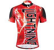 PaladinSport Men 's Short Sleeve Cycling Jersey DX616red lightning100% Polyester