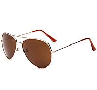 Vintage Stype Full-Rim Flyer Avitor Sunglasses UV400 (Brown Lens)