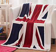 130*160cm 3d UK/US Flag blanket cashmere plaids