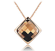 women's Fashion Diamond Crystall Pendant Necklace