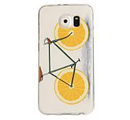 Orange Bike Pattern TPU Soft Case for Samsung Galaxy S6/S6 Edge/S6 Edge Plus