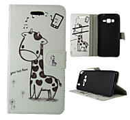 For Samsung Galaxy Case Wallet / Card Holder / with Stand / Flip Case Full Body Case Animal PU Leather SamsungTrend Duos / J5 / J1 /