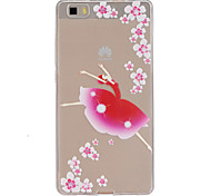 Back Transparent Sexy Lady TPU Soft Case Cover For Huawei Huawei P8 Lite