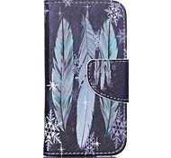 Patterned Leather Card Slot Case for iPod Touch 5/6 with Stand - Feather