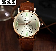 Men's Fashion  Quartz Alloy Night Light Dress Watch(Assorted Colors)