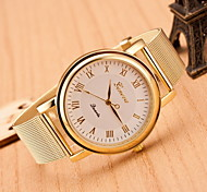 Women's Fashion Roman Numerals in Black and White Quartz  Watch Alloy Band