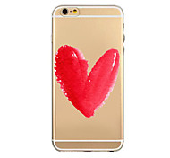 amour motif de fleurs tpu soft shell transparent phone case cas de couverture arrière pour iPhone6 plus / 6s, plus