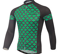 Green XINTOWN Cycling Bike Long Sleeve Clothing Bicycle Jersey