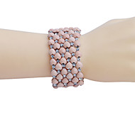 Fashion Drill Peach Hearth Alloy Bracelet