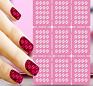 1pcs  Nail Art Hollow Stickers New Design Heart Star Lips Interesting Geomestric Shape  Nail Art Beauty  L141-150