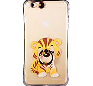 resplandor en el tigre del sur de China oscuro con anillo de la mano y la correa de PC de nuevo caso para el iPhone 6plus / 6splus 5.5