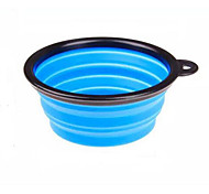 Outdoor Folding Portable Pet Silicone Bowl