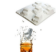 Car Shape Ice Mould Silicone Ice Cubes (Random Color)
