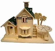 legno camera vista mare puzzle 3d giocattoli fai da te