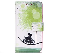 For Samsung Galaxy Case Card Holder / with Stand / Flip / Pattern / Magnetic Case Full Body Case Dandelion PU Leather Samsung A3(2016)