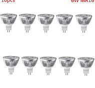 6W GU5.3 (MR16) LED-spotlampen MR16 3 Krachtige LED 500 lm Warm wit / Koel wit Decoratief DC 12 V 10 stuks