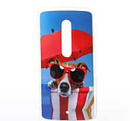 Glasses Dog Pattern TPU Soft Case for Motorola MOTOX Play