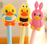 1PC Cute Cartoon Needle Neutral Pen Pen Students Prizes(Style random)