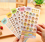 6PCS Scrapbooking Paper Cute Beauty Girl Diary Photo Album Stickers Wedding Decoration Sticker(Style random)