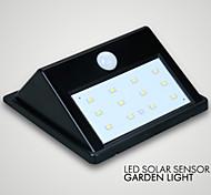 1pc levou IP65 jardim luz solar, sensor de 10LED economizar energia