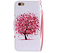 Color Tree Pattern PU Leather Material Phone Case for iPhone 6/iPhone 6S
