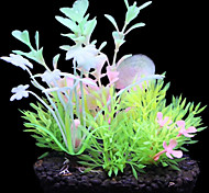 Simulation Resin Shining Waterweeds Ornament Decoration for Aquarium