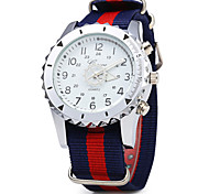 Men's Casual Fashion Multi Color Fabric Band Quartz Watch Wrist Watch Cool Watch Unique Watch