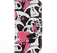 Heart Panda PU leather with Stand Case for Samsung S7