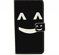Smiling Face  Pattern PU Leather Full Body Cover with Stand for Samsung Galaxy A3100/A5100