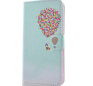 Balloon House Pattern PU Leather Wallet Phone Case with Diamond For Samsung Galaxy  S7/S7 edge/S6/S6 Edge/S5