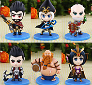 Cartoon Doll Hero 6 Generation 6 Cartoon Doll Ice Male Gun 6PC 10cm