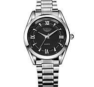 Herrenmode wasserbeständige Edelstahl-Armbanduhr