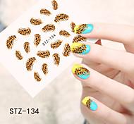 1pcs  Water Transfer Nail Art Stickers  Colorful Flower Nail Art Design STZ134-140