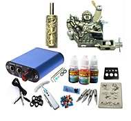 Basekey Tattoo Kit JH573  1 Machine With Power Supply Grips 3x10ML Ink