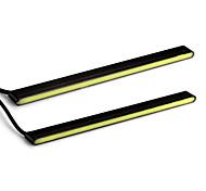 2 x 24 LED blanco DRL del coche de circulación diurna luz de la lámpara de corriente continua 12v6000-6500k 480lm 12w