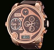 Oulm Мужской Армейские часы Наручные часы LCD Календарь С двумя часовыми поясами С тремя часовыми поясами Кварцевый Японский кварц PU
