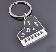 Stainless Steel Piano Key Chain Key Fob Purse Charm With Pouch