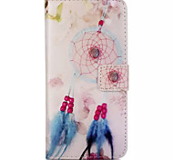 Pink Dreamcatcher Design Embossed PU Leather Wallet Case for IPhone 6 Iphone 6S