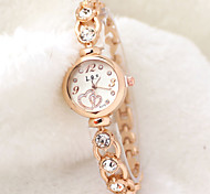 Women's Fashion Watch Quartz Alloy Band Flower Elegant Rose Gold