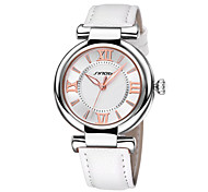 SINOBI ® Fashion Simple Quartz Watches for Women Silver Quartz Watch PU Leather Strap Wrist Watches Relogio Feminino Cool Watches Unique Watches