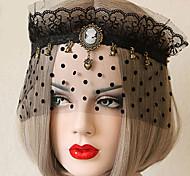 Lolita Accessories Gothic Lolita Mask Vintage Inspired Black Lolita Accessories Mask Lace For Women Lace