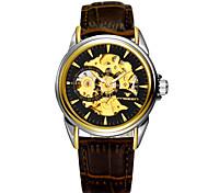 Men's Watch LAGMEEY A High-Grade Commercial Super Waterproof Hollow Mechanical Belt Watch Wrist Watch Cool Watch Unique Watch