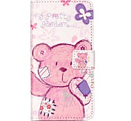 Pink Bear Relief Painted PU Phone Case for Huawei P9 Lite/P9