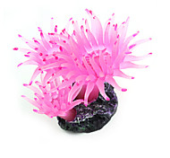 Artificial Plastic Coral for Fish Tank Decoration Ornament Pink/ Green
