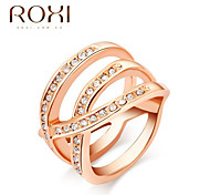 Rose Gold Zircon Wedding Promise Ring for Lady