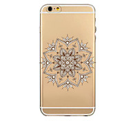 Elegant Design Pattern TPU Transparent Soft Shell Phone Case Back Cover Case for iPhone6/6S