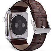 38mm 42mm Premium-echtes Leder Krokoprägung Ersatzarmband Uhrenarmband für Apfel Uhr iwatch