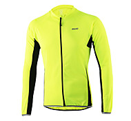 Arsuxeo Men's Long Sleeve Cycling Jersey Breathable+Quick-Drying Tops