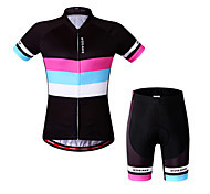 Wosawe Bike/Cycling Sweatshirt / Jersey + Shorts / Padded Shorts / Tops / Clothing Sets/Suits Women's Short SleeveBreathable / Quick Dry
